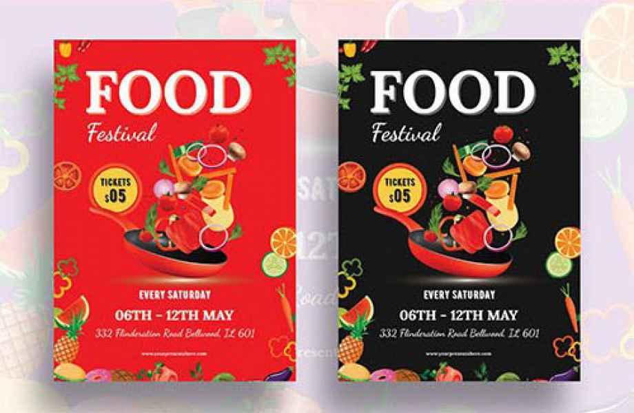 esempio di flyer food