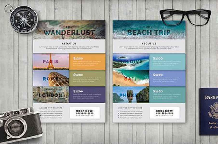 esempio di flyer viaggi