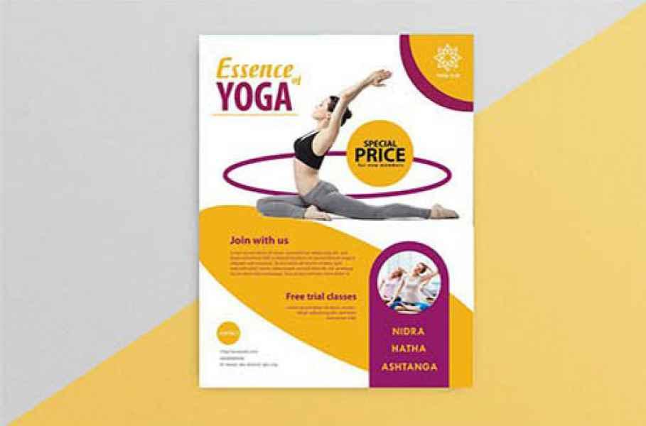 esempio di flyer yoga