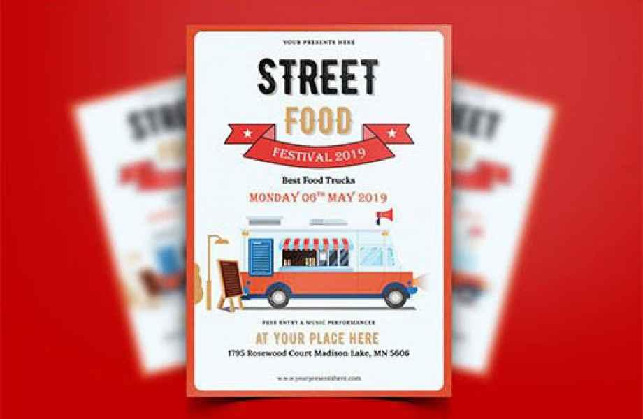 esempio di flyer street food