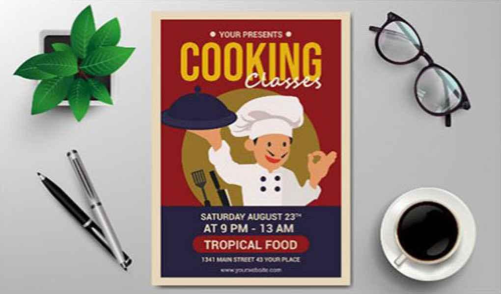 esempio di flyer cucina
