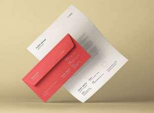 Modello carta intestata e busta